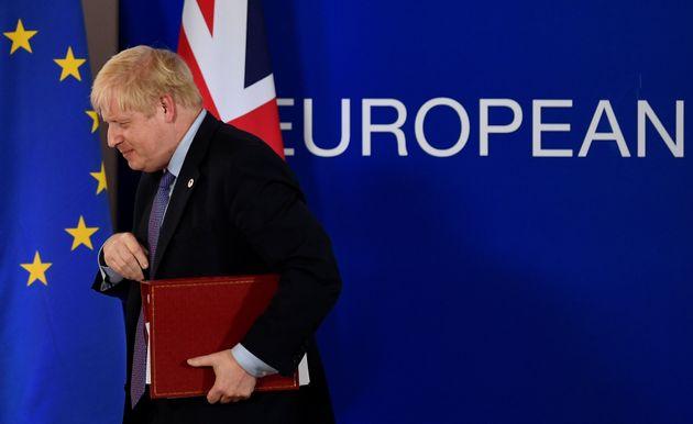 Boris Johnson, ici lors du sommet européen le 17 octobre à Bruxelles, a fait un ultime...