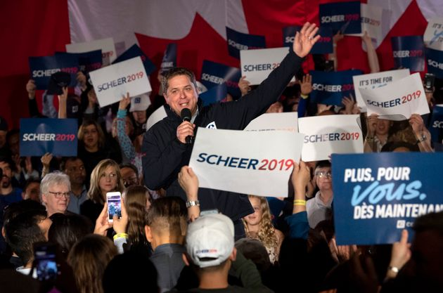 Andrew Scheer Shuts Down 'Lock Him Up' Chant About Trudeau At Conservative Rally