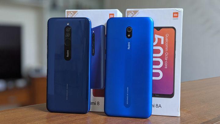 The Xiaomi Redmi 8 and Redmi 8A.