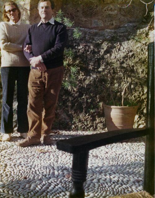 Ο Πάτρικ και η Τζόαν Λη Φέρμορ στο σπίτι τους στην