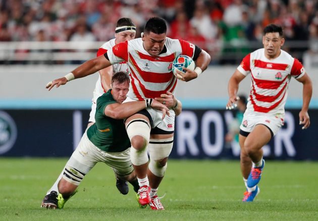 Rugby Union - Rugby World Cup 2019 - Quarter Final - Japan v South Africa - Tokyo Stadium, Tokyo, Japan...
