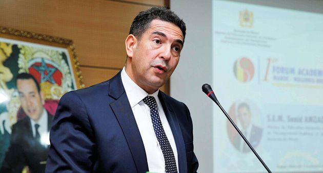 Saïd Amzazi, ministre de l'Education, de la formation professionnelle, de l'enseignement supérieur et...