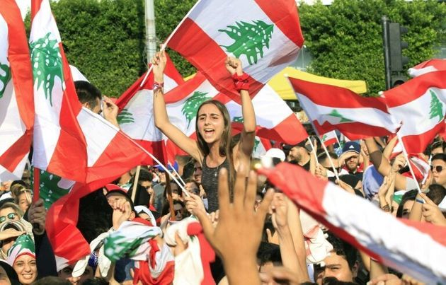 Protests took place across Lebanon, with demonstrators waving Lebanese flags in the crowd in the southern...