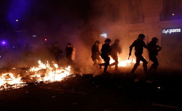 Imagen de los recientes disturbios en