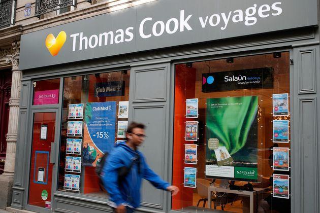 Une agence Thomas Cook à Paris, le 23 septembre, jour où la maison mère britannique...