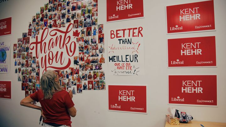 Kent Hehr's campaign office, July 2019.