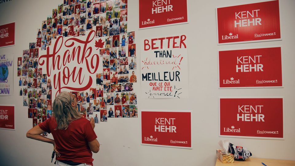 Kent Hehr's campaign office, July