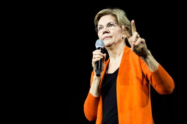 NORFOLK, VA - OCTOBER 18: Democratic Presidential Candidate Sen. Elizabeth Warren (D-MA) speaks during...