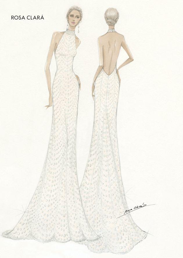Boceto del segundo vestido de novia de Mery