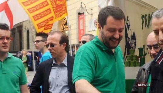 """DA """"REPORT"""" - Gigi Moncalvo, ex direttore Padania: """"Salvini è una creatura di"""