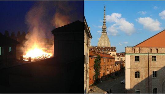 INCENDIO ALLA CAVALLERIZZA REALE - Le fiamme bruciano il patrimonio Unesco a Torino, nessun