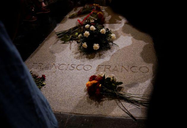 La tumba de Francisco Franco en el Valle de los Caídos, en una imagen de
