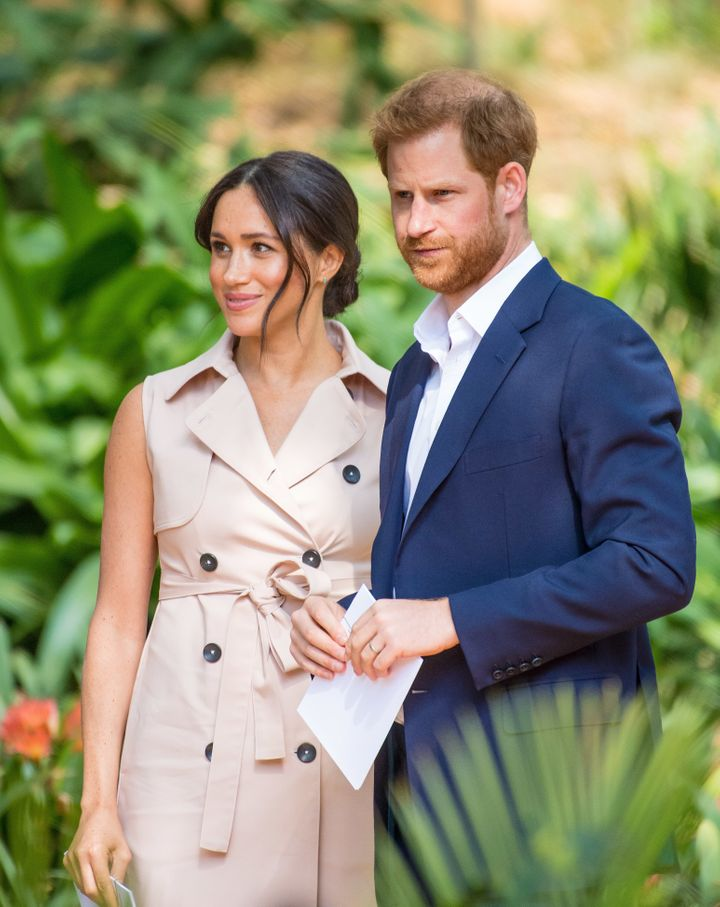 Meghan and Harry during their recent Royal visit to Africa