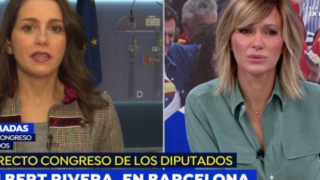 Inés Arrimadas, durante su intervención en Espejo Público junto a Susanna