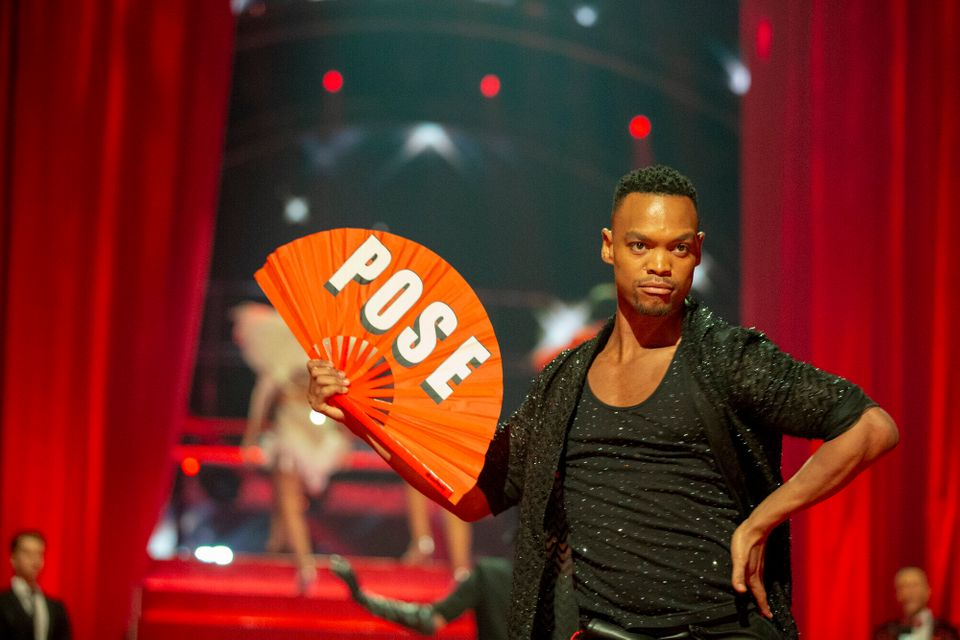 Johannes Radebe during one of his show-stopping Strictly routines last