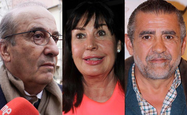 Francis Franco, Carmen y Jaime Martínez Bordiú.