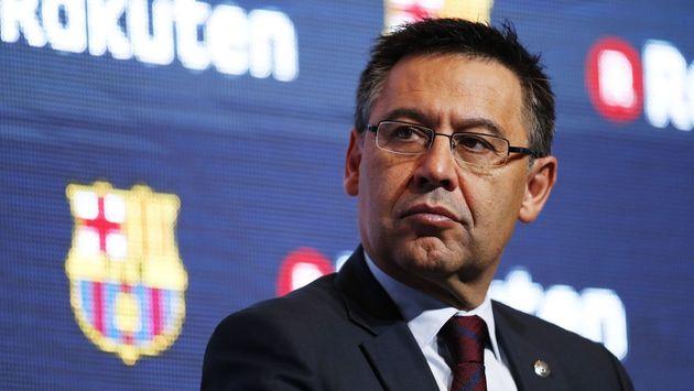 El presidente del F.C. Barcelona, Josep Maria