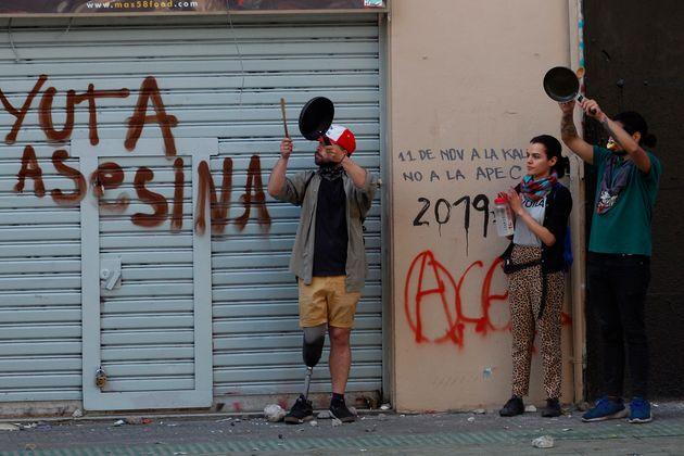 Los jóvenes protestan en