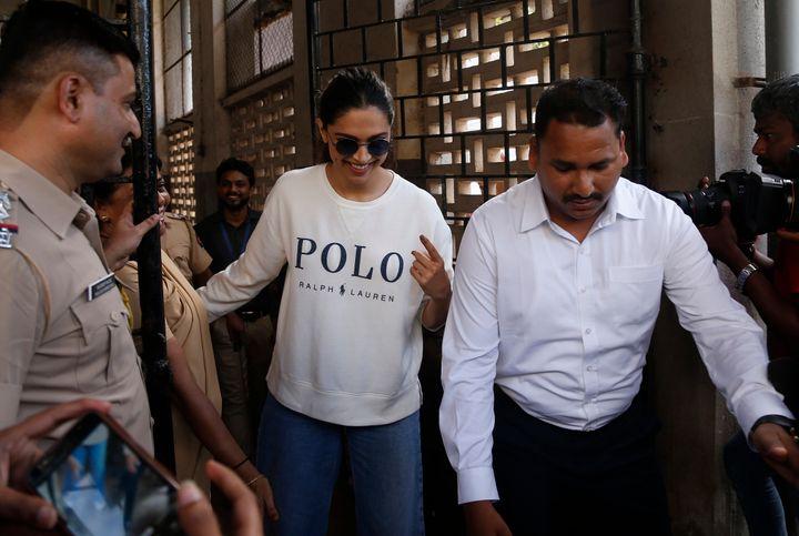 Actress Deepika Padukone voted at Mumbai's Bandra West constituency.