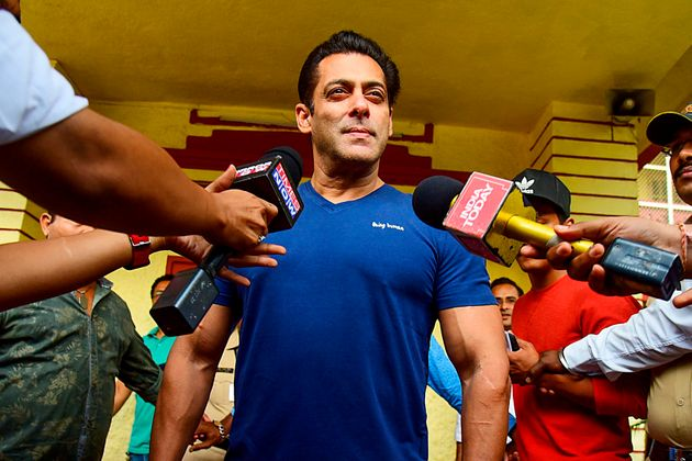 Salman Khan also cast his vote in the Maharashtra election and shared a photo on Twitter.
