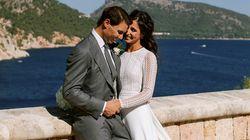 Rafa Nadal e Xisca Perelló sposi, l'abito di lei è un sogno (in stile Art