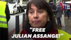 120 Français (et des gilets jaunes) à Londres pour soutenir Julian