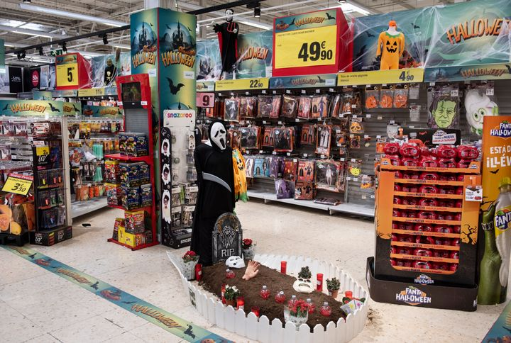 Halloween stores are a great one-stop shop for costumes, but always be aware of the packaging and what chemicals are in the fabric.
