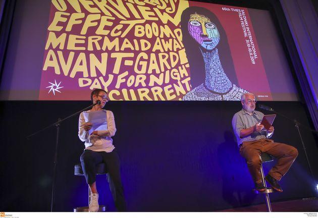 Η γενική διευθύντρια του Φεστιβάλ Ελίζ Ζαλαντό και ο υπεύθυνος προγράμματος Γιώργος Κρασσακόπουλος, στην...