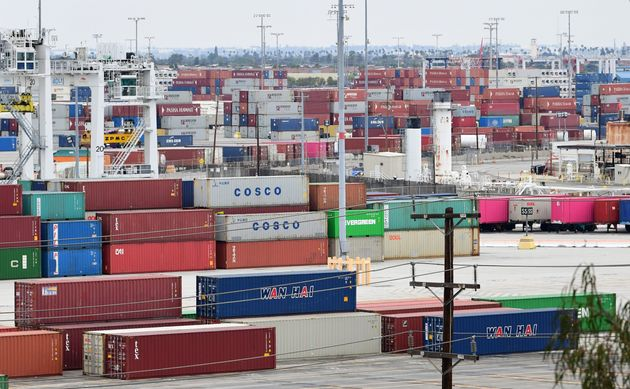 Containers are seen at the Port of Los Angeles in San Pedro, Calif.,June 18,