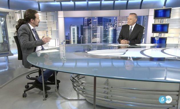 Pablo Iglesias con Piqueras en