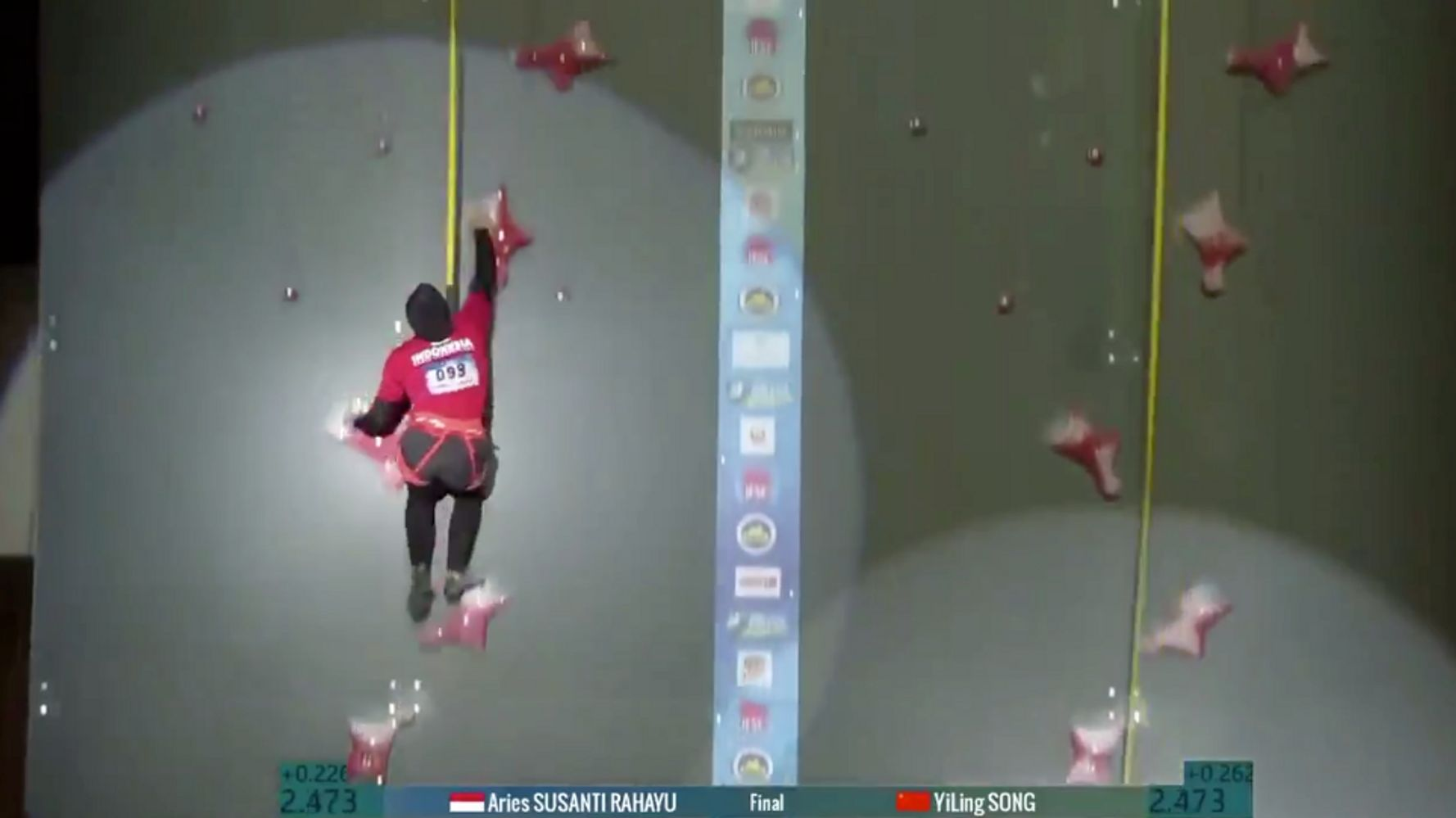 Woman Incredibly Speed Climbs Wall In Under 7 Seconds, Breaking World Record