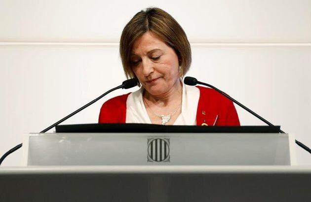 La expresidenta del Parlament, en una imagen de