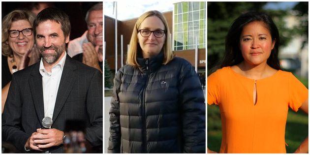 Steven Guilbeault (PLC) a été élu. Sylvie Fréchette (PCC) et Chu Anh Pham...