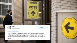▶️ The Best Election Tweets Came From New Canadians Voting For 1st
