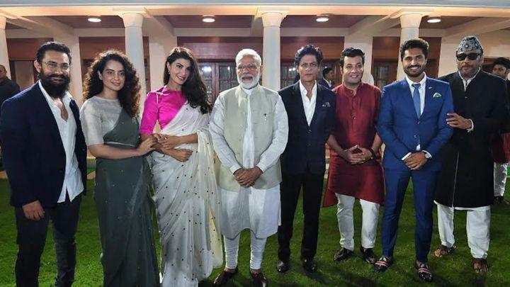 Aamir Khan, Kangana Ranaut, Jacqueline Fernandes, Prime Minister Narendra Modi, Shah Rukh Khan, Varun Sharma and Jackie Shroff