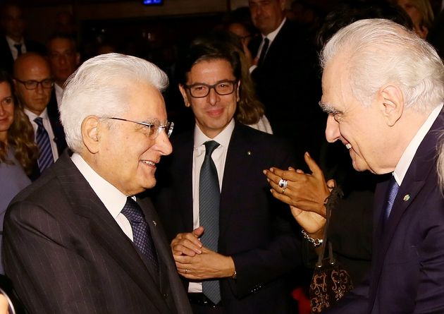 ROME, ITALY - OCTOBER 21: President of the Italian Republic Sergio Mattarella, Antonio Monda and Director...