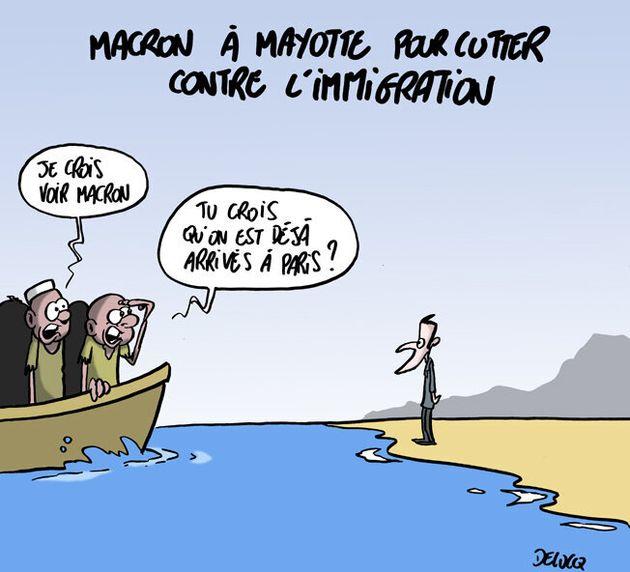 Le Président Macron est en déplacement à
