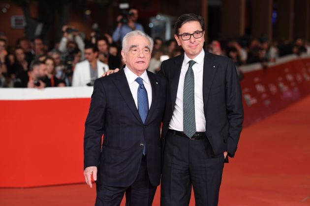 ROME, ITALY - OCTOBER 21: Martin Scorsese and Antonio Monda attend