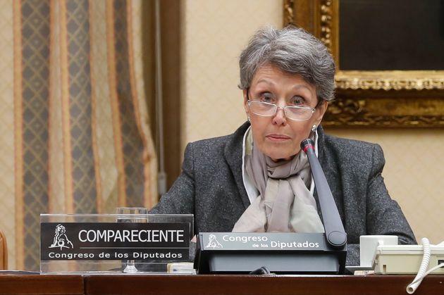 Rosa María Mateo, en el Congreso, el 30 de octubre de