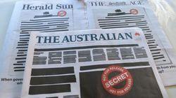 オーストラリアの新聞社が一斉に「黒塗り」で政府に抗議