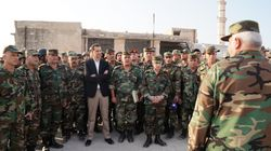 Assad al fronte con le truppe a Idlib.