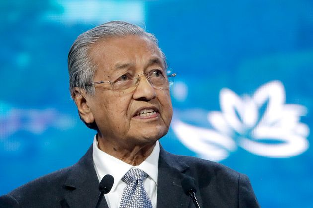 Malaysian Prime Minister Mahathir Mohamad in a file