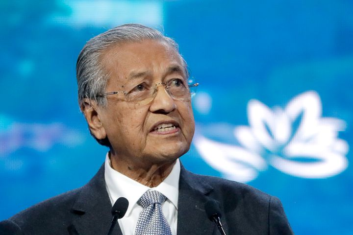 Malaysian Prime Minister Mahathir Mohamad in a file photo.
