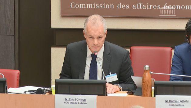 Éric Schnur, PDG du groupe Lubrizol, auditionné à l'Assemblée nationale après...