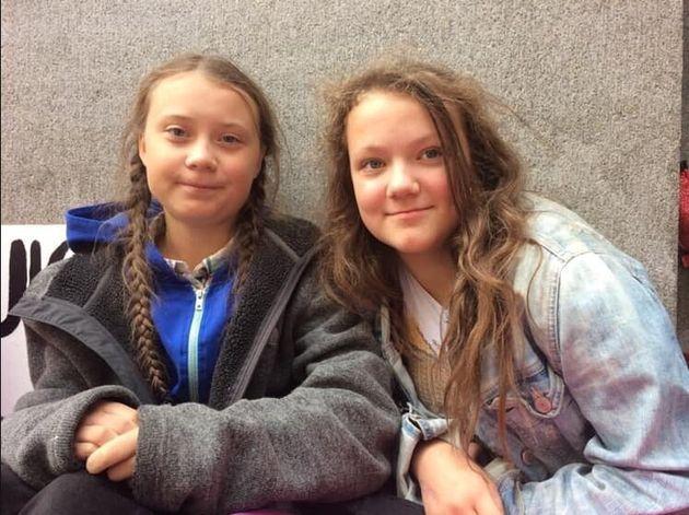 Greta Thunberg e la sorella Beata