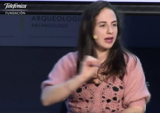 Cristina Morales en un acto en la Fundación