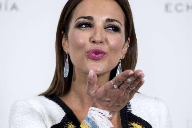 Paula Echevarría durante una presentación (GTRES)