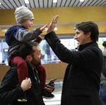 Trudeau High Fives Commuters In Montreal The Morning After Election