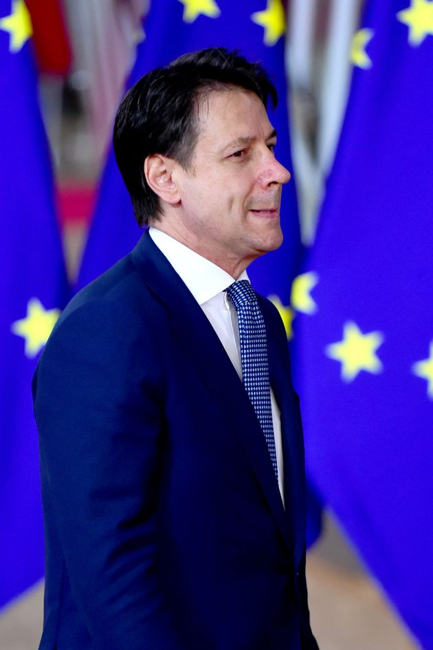 BRUSSELS, BELGIUM - OCTOBER 18: Prime Minister of Italy, Giuseppe Conte arrives at European Council Meeting...