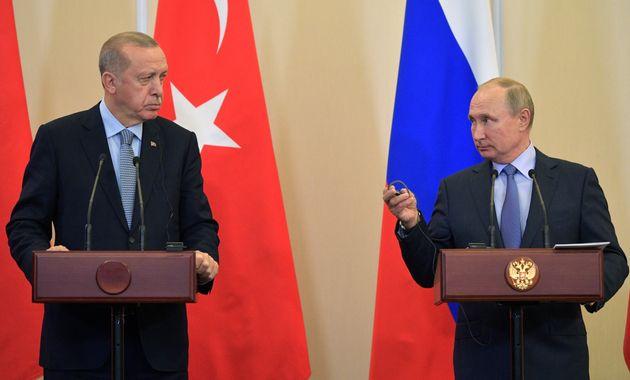 Συνάντηση Πούτιν-Ερντογάν: Συμφωνία για κοινές περιπολίες σε βάθος 10 χιλιομέτρων στη